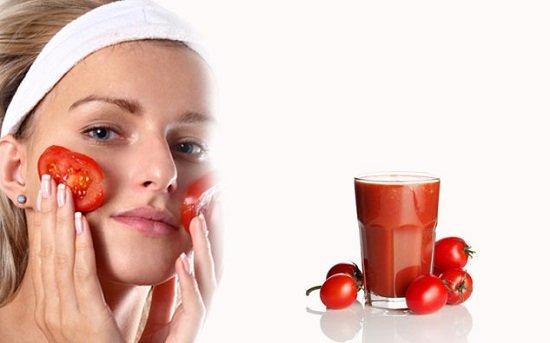 Cà chua giúp hỗ trợ trị sẹo lõm