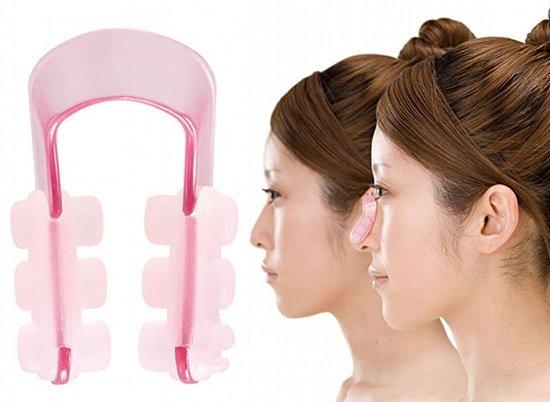 Dùng kẹp và massage giúp sống mũi cao và nhỏ