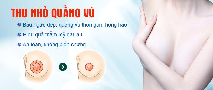 Thu nhỏ gọn quầng vú tại thẩm mỹ Hà Thanh