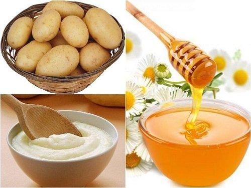 Kết hợp khoai tây và mật ong triệt lông tay, lông chân