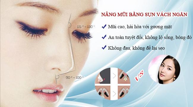 Nâng mũi bằng sụn vách ngăn tại Hà Thanh