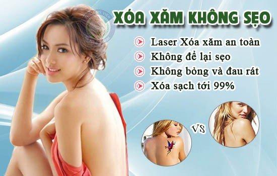 Xóa xăm không để lại sẹo ở Hà Nội