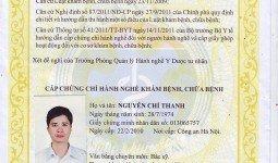 Giấy chứng nhận hành nghề khám chữa bệnh bác sĩ Nguyễn Chí Thanh