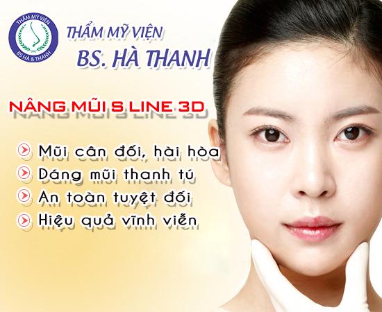Nâng mũi S line 3d tại thẩm mỹ bác sĩ Hà Thanh