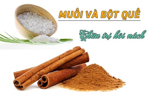 Cách chữa trị bệnh hôi nách với muối và bột quế đơn giản