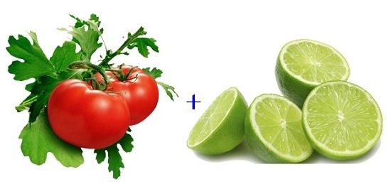 Cà chua say nhuyễn và chanh giúp trị hôi nách hiệu quả