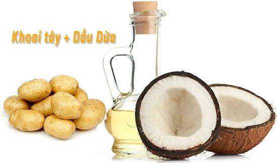 Khoai tây và dầu dừa giúp chữa trị bệnh hôi nách
