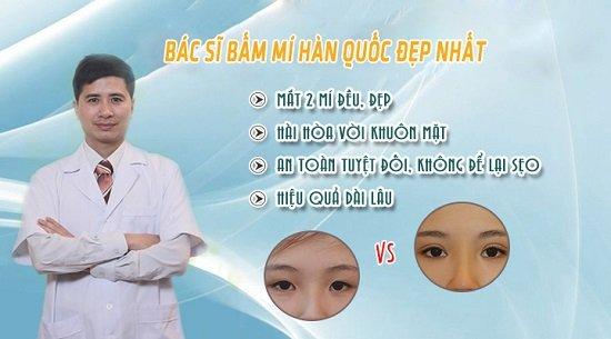 Thẩm mỹ bác sĩ Hà Thanh bấm mí an toàn và đẹp tự nhiên cho bạn