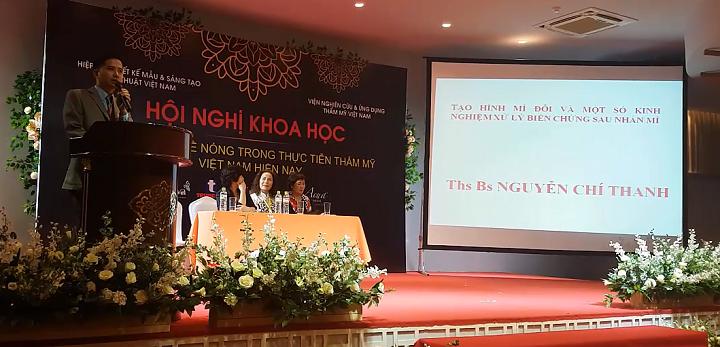 Bác sĩ Nguyễn Chí Thanh báo cáo thực trạng nhấn mí ở Việt Nam hiện nay